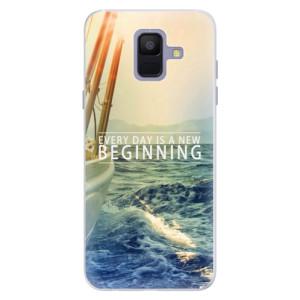 Silikonové pouzdro iSaprio (mléčně zakalené) Beginning na mobil Samsung Galaxy A6