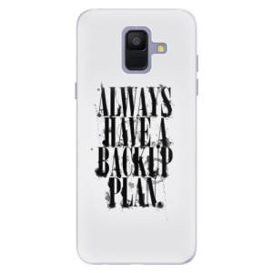 Silikonové pouzdro iSaprio (mléčně zakalené) Backup Plan na mobil Samsung Galaxy A6