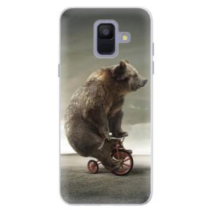 Silikonové pouzdro iSaprio (mléčně zakalené) Medvěd 01 na mobil Samsung Galaxy A6