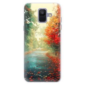 Silikonové pouzdro iSaprio (mléčně zakalené) Podzim 03 na mobil Samsung Galaxy A6