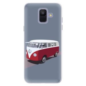 Silikonové pouzdro iSaprio (mléčně zakalené) VW Bus na mobil Samsung Galaxy A6