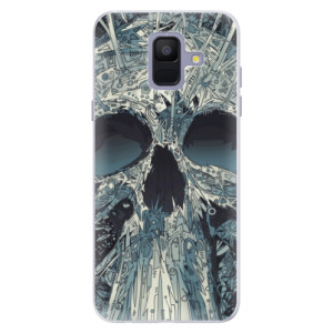 Silikonové pouzdro iSaprio (mléčně zakalené) Abstract Skull na mobil Samsung Galaxy A6
