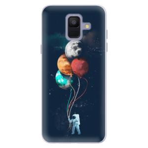 Silikonové pouzdro iSaprio (mléčně zakalené) Balónky 02 na mobil Samsung Galaxy A6