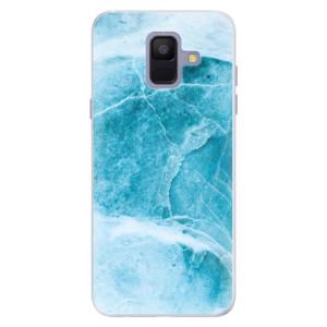 Silikonové pouzdro iSaprio (mléčně zakalené) Blue Marble na mobil Samsung Galaxy A6