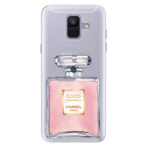 Silikonové pouzdro iSaprio (mléčně zakalené) Chanel Rose na mobil Samsung Galaxy A6