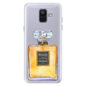 Silikonové pouzdro iSaprio (mléčně zakalené) Chanel Gold na mobil Samsung Galaxy A6