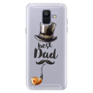 Silikonové pouzdro iSaprio (mléčně zakalené) Best Dad na mobil Samsung Galaxy A6