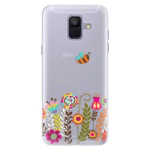 Silikonové pouzdro iSaprio (mléčně zakalené) Včelka Pája 01 na mobil Samsung Galaxy A6