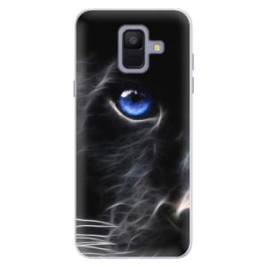 Silikonové pouzdro iSaprio (mléčně zakalené) Black Puma na mobil Samsung Galaxy A6