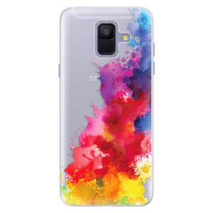 Silikonové pouzdro iSaprio (mléčně zakalené) Color Splash 01 na mobil Samsung Galaxy A6