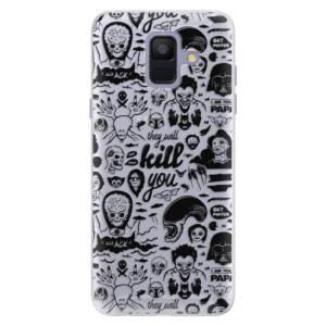 Silikonové pouzdro iSaprio (mléčně zakalené) Komiks 01 black na mobil Samsung Galaxy A6