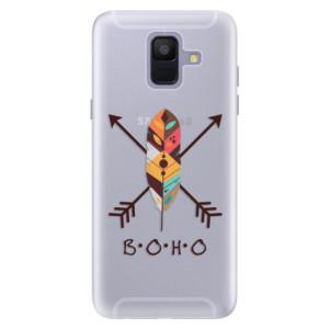 Silikonové pouzdro iSaprio (mléčně zakalené) BOHO na mobil Samsung Galaxy A6