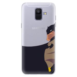 Silikonové pouzdro iSaprio (mléčně zakalené) BaT Komiks na mobil Samsung Galaxy A6