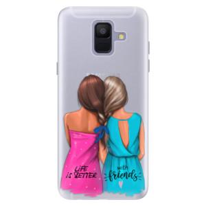 Silikonové pouzdro iSaprio (mléčně zakalené) Best Friends na mobil Samsung Galaxy A6