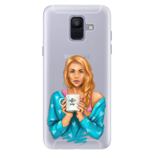Silikonové pouzdro iSaprio (mléčně zakalené) Coffee Now Zrzka na mobil Samsung Galaxy A6