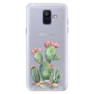 Silikonové pouzdro iSaprio (mléčně zakalené) Kaktusy 01 na mobil Samsung Galaxy A6