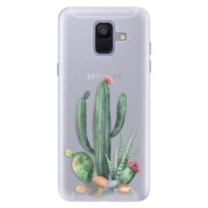Silikonové pouzdro iSaprio (mléčně zakalené) Kaktusy 02 na mobil Samsung Galaxy A6