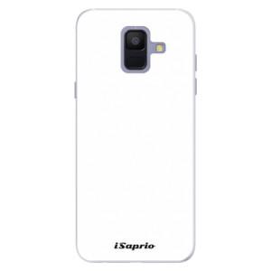 Silikonové pouzdro iSaprio 4Pure bílé na mobil Samsung Galaxy A6