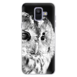 Silikonové pouzdro iSaprio (mléčně zakalené) BW Sova na mobil Samsung Galaxy A6