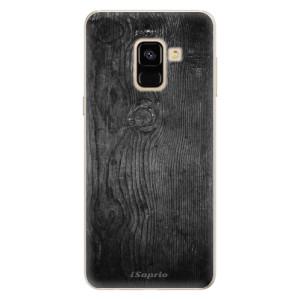 Silikonové pouzdro iSaprio (mléčně zakalené) Black Wood 13 na mobil Samsung Galaxy A8 2018