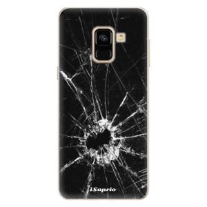 Silikonové pouzdro iSaprio (mléčně zakalené) Broken Glass 10 na mobil Samsung Galaxy A8 2018