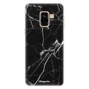 Silikonové pouzdro iSaprio (mléčně zakalené) Black Marble 18 na mobil Samsung Galaxy A8 2018