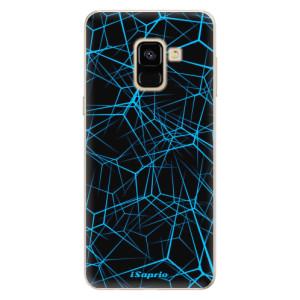 Silikonové pouzdro iSaprio (mléčně zakalené) Abstract Outlines 12 na mobil Samsung Galaxy A8 2018