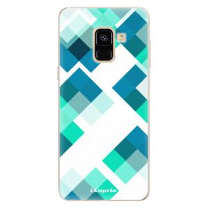 Silikonové pouzdro iSaprio (mléčně zakalené) Abstract Squares 11 na mobil Samsung Galaxy A8 2018