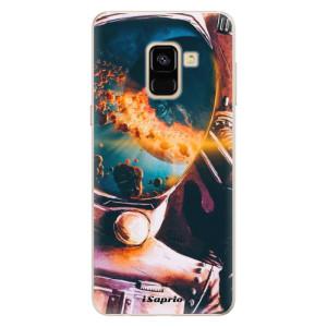 Silikonové pouzdro iSaprio (mléčně zakalené) Astronaut 01 na mobil Samsung Galaxy A8 2018