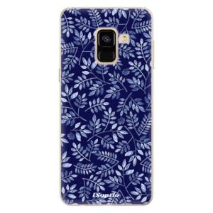 Silikonové pouzdro iSaprio (mléčně zakalené) Blue Leaves 05 na mobil Samsung Galaxy A8 2018
