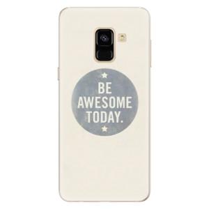 Silikonové pouzdro iSaprio (mléčně zakalené) Awesome 02 na mobil Samsung Galaxy A8 2018