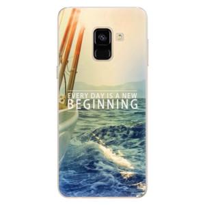 Silikonové pouzdro iSaprio (mléčně zakalené) Beginning na mobil Samsung Galaxy A8 2018