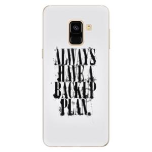 Silikonové pouzdro iSaprio (mléčně zakalené) Backup Plan na mobil Samsung Galaxy A8 2018