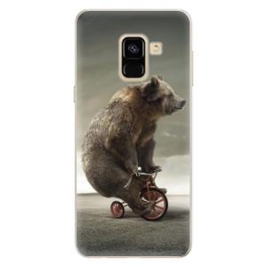 Silikonové pouzdro iSaprio (mléčně zakalené) Medvěd 01 na mobil Samsung Galaxy A8 2018