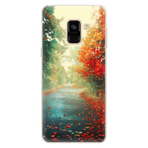 Silikonové pouzdro iSaprio (mléčně zakalené) Podzim 03 na mobil Samsung Galaxy A8 2018