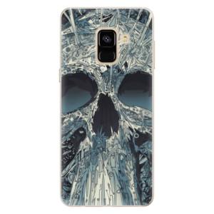 Silikonové pouzdro iSaprio (mléčně zakalené) Abstract Skull na mobil Samsung Galaxy A8 2018