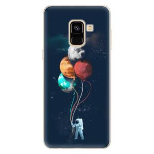 Silikonové pouzdro iSaprio (mléčně zakalené) Balónky 02 na mobil Samsung Galaxy A8 2018
