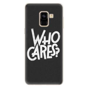 Silikonové pouzdro iSaprio (mléčně zakalené) Who Cares na mobil Samsung Galaxy A8 2018