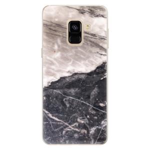 Silikonové pouzdro iSaprio (mléčně zakalené) BW Mramor na mobil Samsung Galaxy A8 2018