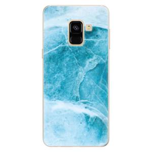 Silikonové pouzdro iSaprio (mléčně zakalené) Blue Marble na mobil Samsung Galaxy A8 2018