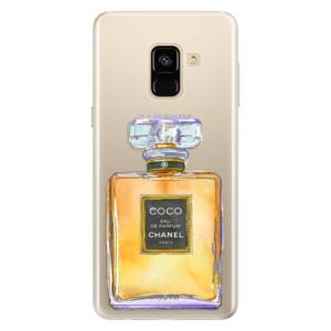 Silikonové pouzdro iSaprio (mléčně zakalené) Chanel Gold na mobil Samsung Galaxy A8 2018