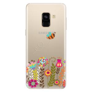 Silikonové pouzdro iSaprio (mléčně zakalené) Včelka Pája 01 na mobil Samsung Galaxy A8 2018