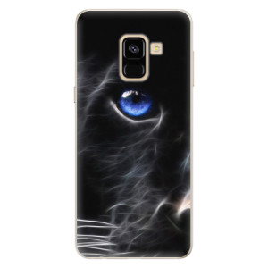 Silikonové pouzdro iSaprio (mléčně zakalené) Black Puma na mobil Samsung Galaxy A8 2018