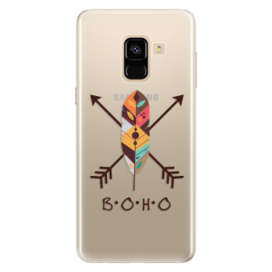 Silikonové pouzdro iSaprio (mléčně zakalené) BOHO na mobil Samsung Galaxy A8 2018