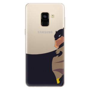 Silikonové pouzdro iSaprio (mléčně zakalené) BaT Komiks na mobil Samsung Galaxy A8 2018