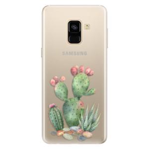 Silikonové pouzdro iSaprio (mléčně zakalené) Kaktusy 01 na mobil Samsung Galaxy A8 2018