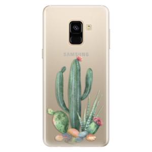 Silikonové pouzdro iSaprio (mléčně zakalené) Kaktusy 02 na mobil Samsung Galaxy A8 2018