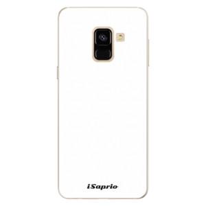 Silikonové pouzdro iSaprio 4Pure bílé na mobil Samsung Galaxy A8 2018