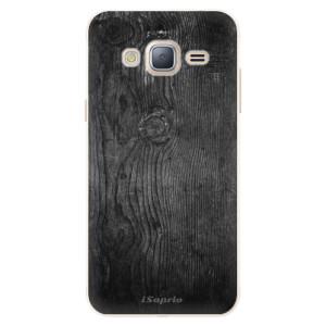 Silikonové pouzdro iSaprio (mléčně zakalené) Black Wood 13 na mobil Samsung Galaxy J3 2016