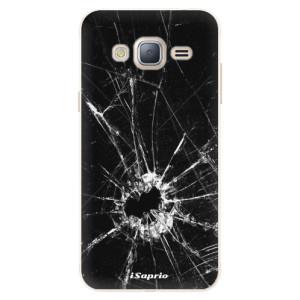Silikonové pouzdro iSaprio (mléčně zakalené) Broken Glass 10 na mobil Samsung Galaxy J3 2016